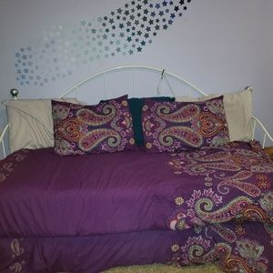 Two Twin Purple Paisley Comforter Sets